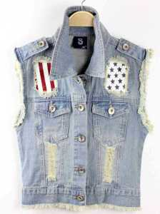 Denim-Vest-Women-2015-Casual-Streetwear-USA-Flag-Print-Vintage-Frayed-Gilet-Waistcoat-Sleeveless-Jeans-Jacket