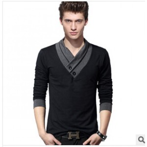 fashion--men39s--t-shirt--plus-size-XXXL-broadcloth-long-sleeved-V-neck-cotton-shirt-bottoming-tops2-colors-32244699864-5467-700x700