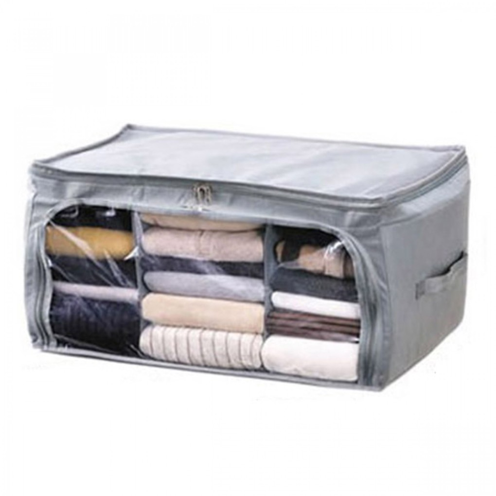 Foldable Clothes Bag Storage - Grey 4-1700x1700