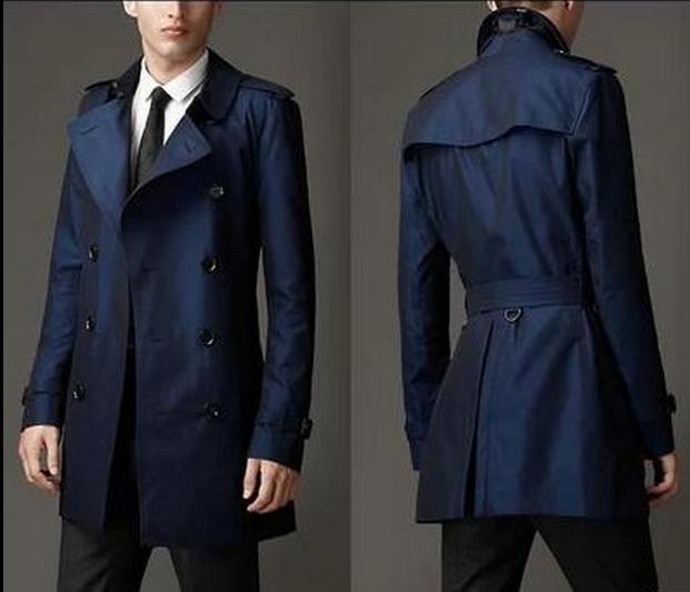 Khaki-blue-mens-trench-coats-Double-breasted-men-pea-european-style-coats-fashion-belt-men-s